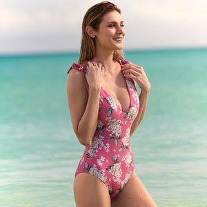 Antonio Melani Liberty London hydrangea swimsuit
